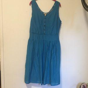 Burberry Blue Silk Scoop Midi Casual Dress 14